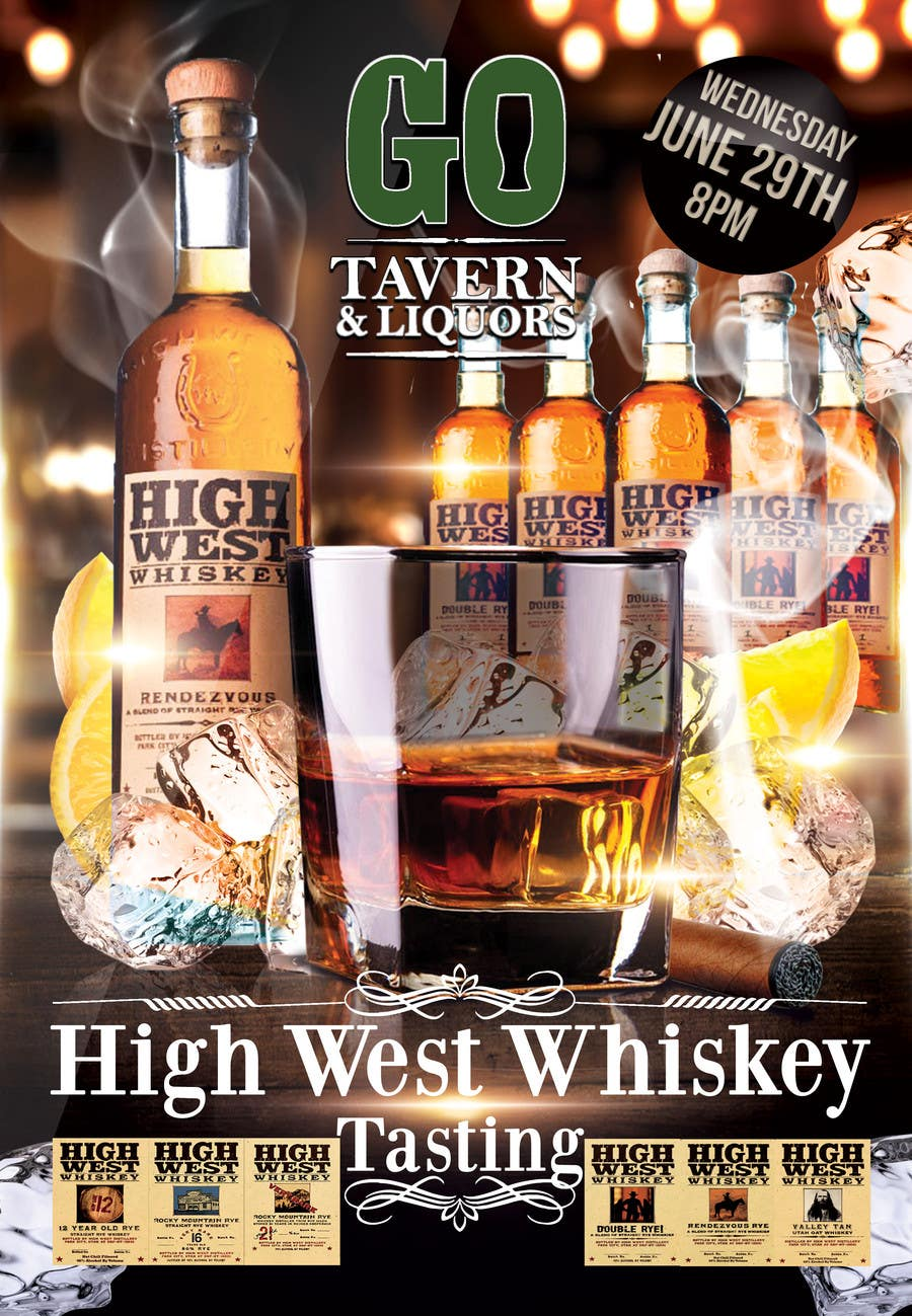 Konkurrenceindlæg #22 for Design a Flyer for High West Whiskey Tasting