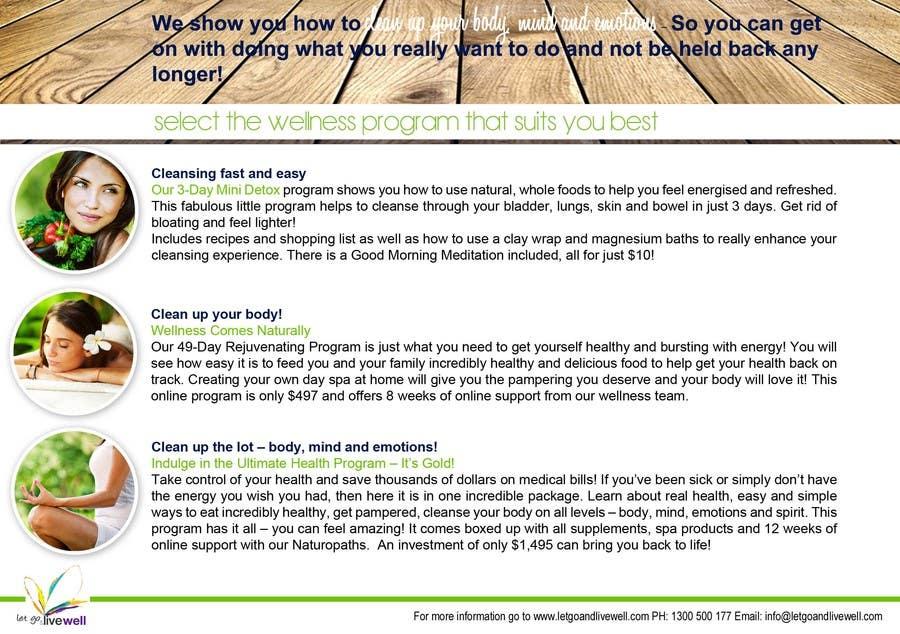 Bài tham dự cuộc thi #                                        5                                      cho                                         Design a Flyer for our wellness programs