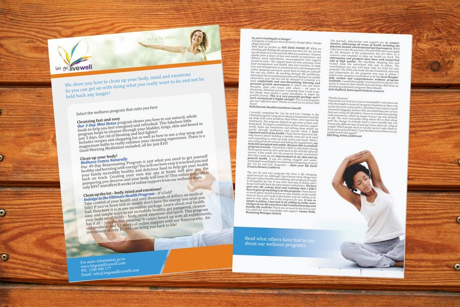 Bài tham dự cuộc thi #                                        12                                      cho                                         Design a Flyer for our wellness programs