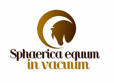 "#23 cho Design a Logo for ""Spherical horse in vacuum"" bởi olja85"
