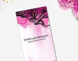 #74 untuk Design some Business Cards for Hair & Makeup Artist oleh CameliaDesigns