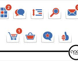 #24 for Design 8 simple and clean icons for web - flat style by ApexDesignsInc