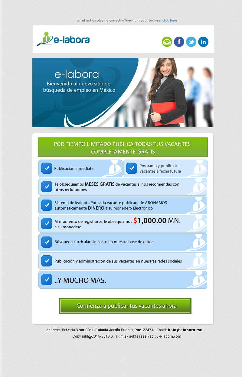 Entry 8 By Chancalkmr For Html Template Email Marketing Campaign