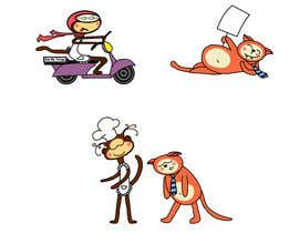 #3 untuk Design 2 mascots for a food-based social network oleh OlgaShevchenko