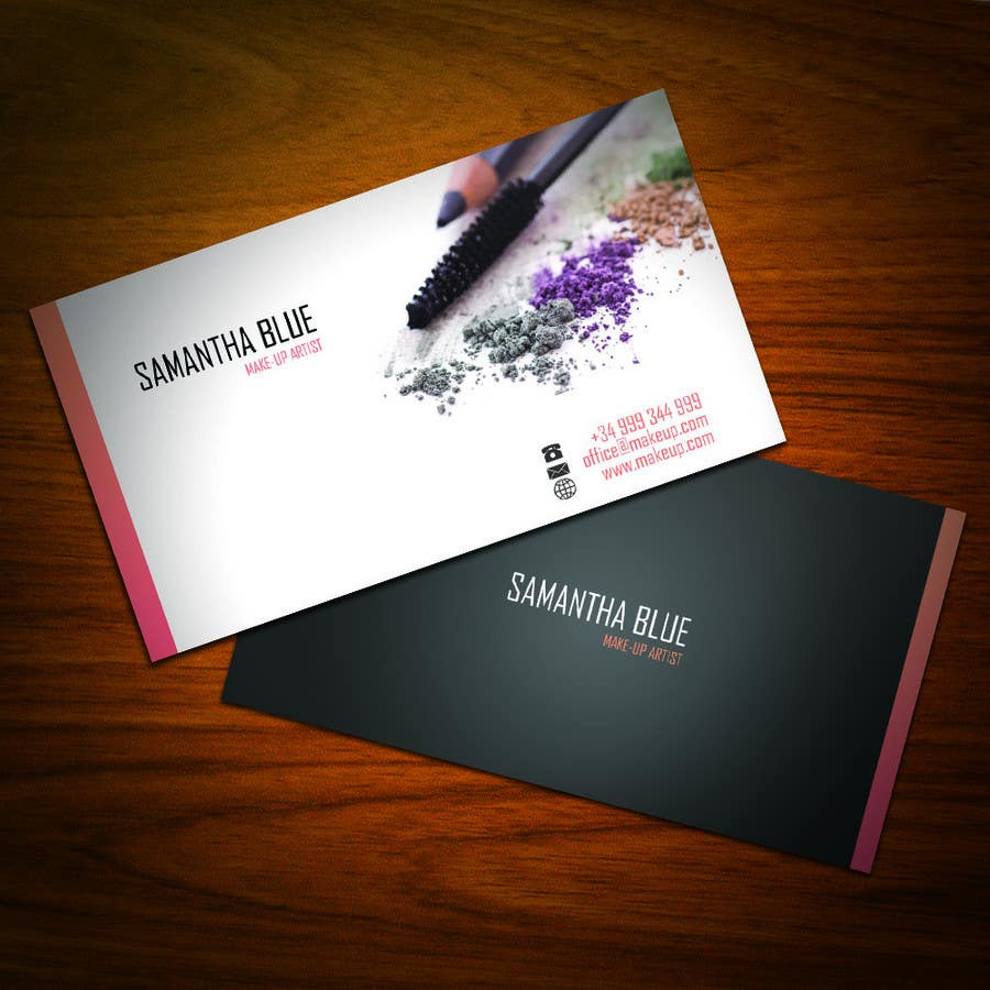 Makeup Artist Business Cards Viewing Gallery