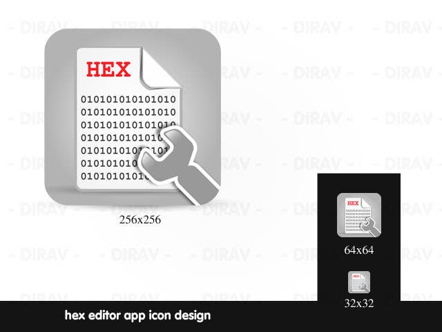#8 for Design some Icons for a hex editor application by dirav