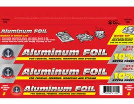 #4 para Create Print and Packaging Designs for ALUMINUM FOIL PACKAGE por eliespinas