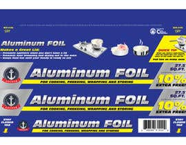 #8 untuk Create Print and Packaging Designs for ALUMINUM FOIL PACKAGE oleh eliespinas