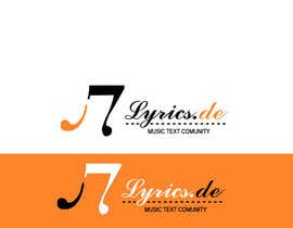 #14 untuk design a logo for the music text comunity lyrics.de oleh Dckhan