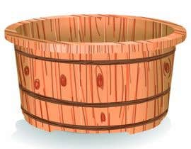 #13 cho Illustrate a Wooden Half-Tub, with Water & Bubbles bởi AidaRamirez