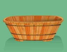 #14 cho Illustrate a Wooden Half-Tub, with Water & Bubbles bởi AidaRamirez