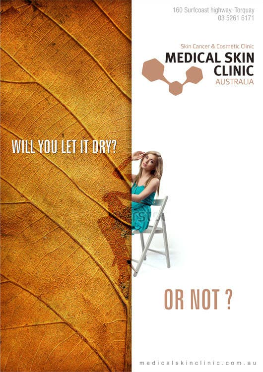 Penyertaan Peraduan #4 untuk Design an Advertisement for a skin cancer and cosmetic clinic