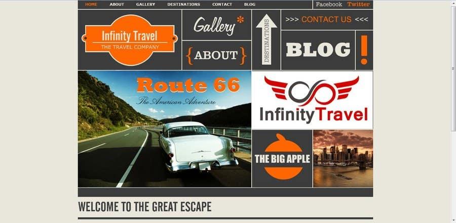 #7 for Design a Website Mockup for Tourist Agency by gaurangdutt