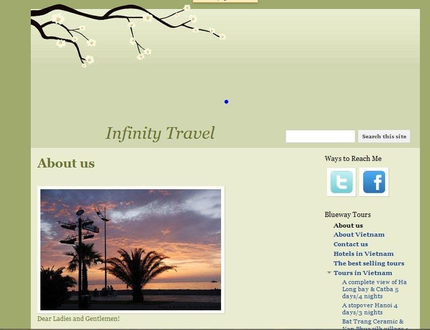 #8 for Design a Website Mockup for Tourist Agency by gaurangdutt