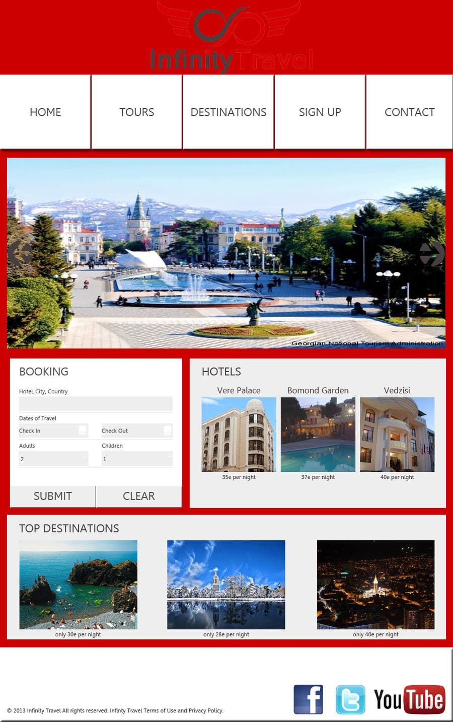 #11 for Design a Website Mockup for Tourist Agency by salecasanova