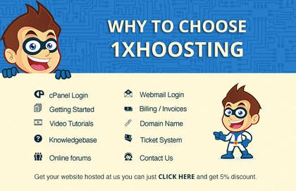 #3 untuk Design a Facebook and twitter landing pages for 1xhosting.com oleh virtualinkteam