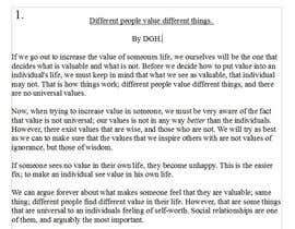 DGHusom tarafından Do some Blog Posting for How can we increase the value of a person's life? için no 5
