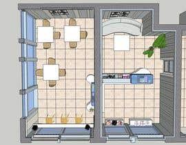 #30 untuk Interior modern design for a sweet/pastry shop oleh caterina2001