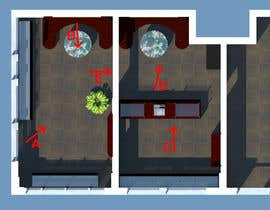 #23 untuk Interior modern design for a sweet/pastry shop oleh HeavenKnight28