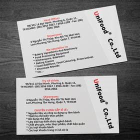 #8 untuk Design some Business Cards for Unifood oleh rzr9