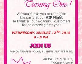 #11 untuk Design a Flyer for clothing store 1st birthday invite oleh riekepuspalina