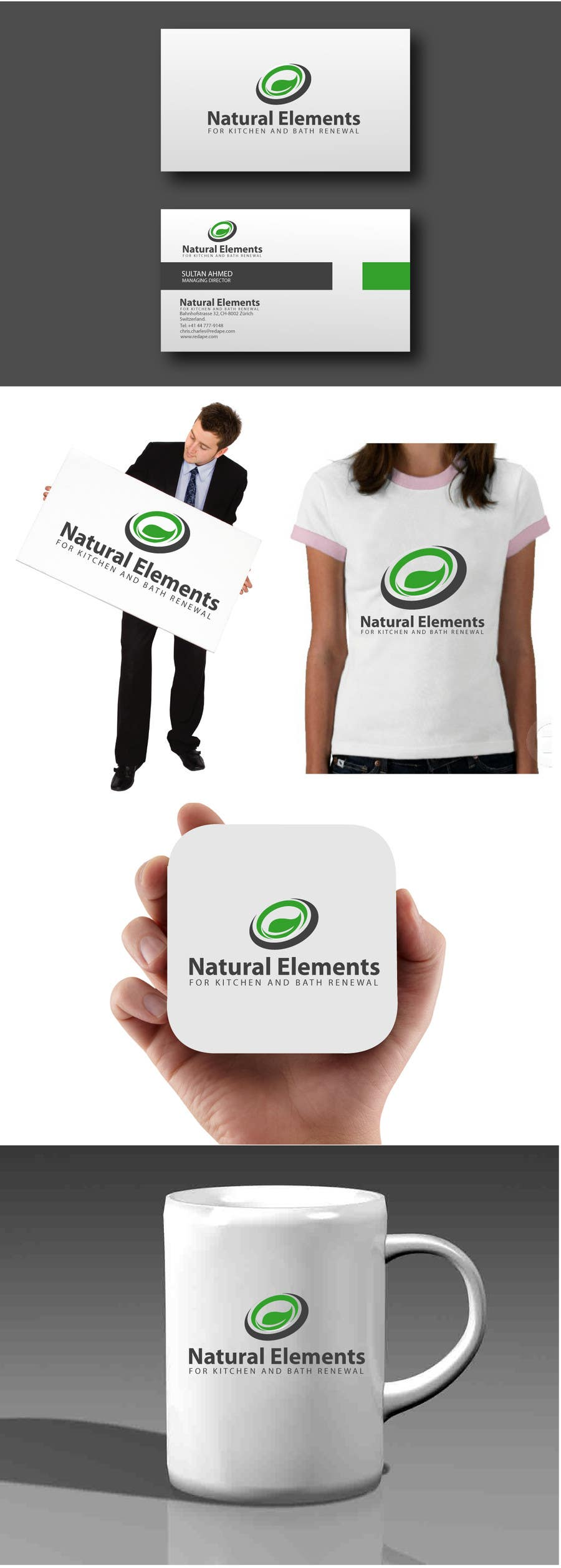 #71 for Design a Logo for Natural Elements for Kitchen and Bath Renewal by sultandesign