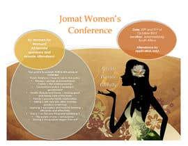 NatashaSoeiro tarafından Design a Brochure for a Women's Conference için no 5