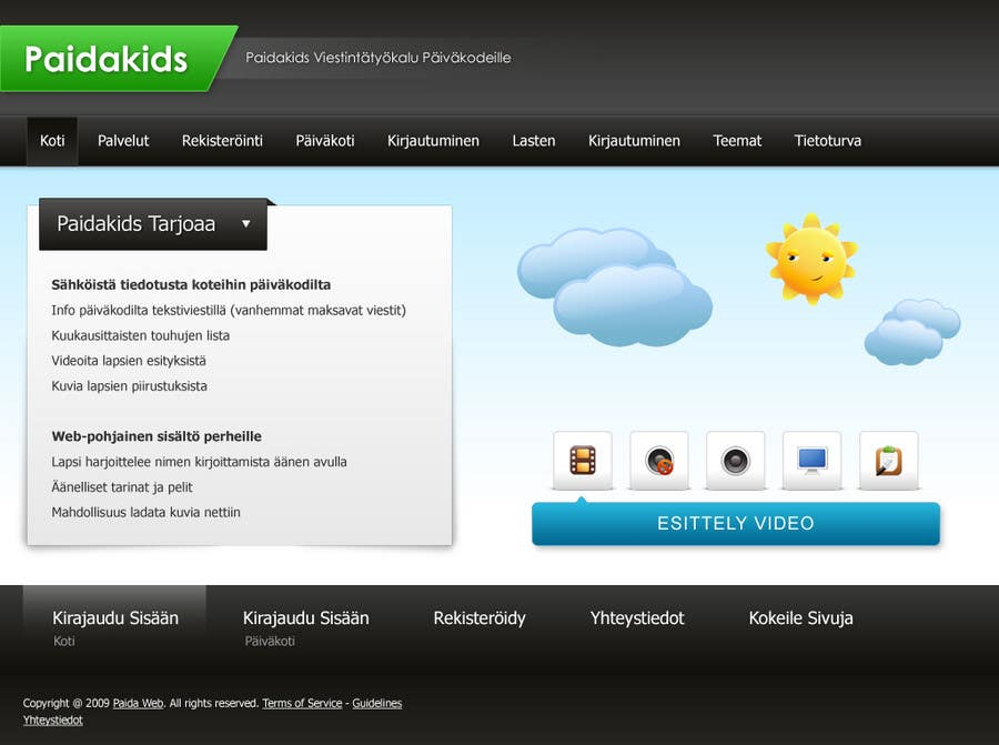 Contest Entry #18 for Graphic Redesign: Front page of web app for nursery schools (PSD)