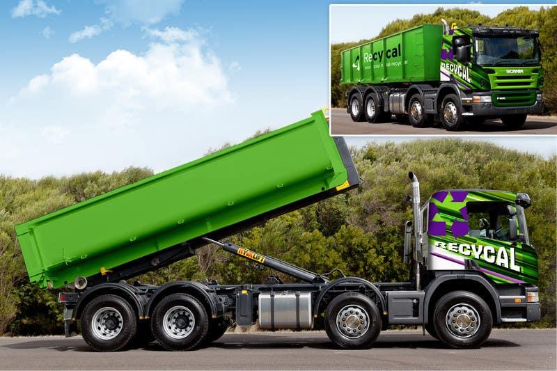 Kilpailutyö #182 kilpailussa Design our the colour scheme/artwork for our new trucks