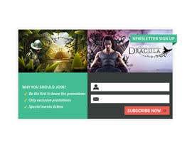 #2 untuk Design a Newsletter Sign Up Banner oleh mufzilkp