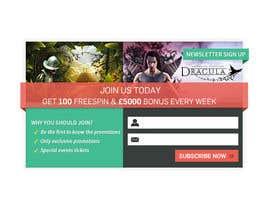 #3 untuk Design a Newsletter Sign Up Banner oleh mufzilkp