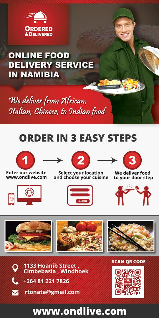 entry 24 by damirruff86 for design a flyer for a new online food