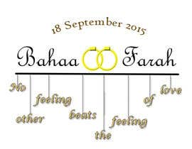 sofiaalcala327 tarafından Design a Logo for Wedding Card/FB event (2 Names logo) için no 7