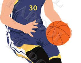 #8 untuk Cartoon Vector Steph Curry oleh harool