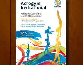 #14 untuk Design a Flyer for An Acrobatic Gymnastics Invitational Competition oleh leandeganos