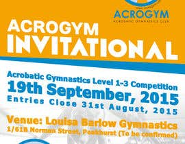 #1 untuk Design a Flyer for An Acrobatic Gymnastics Invitational Competition oleh Tommy50