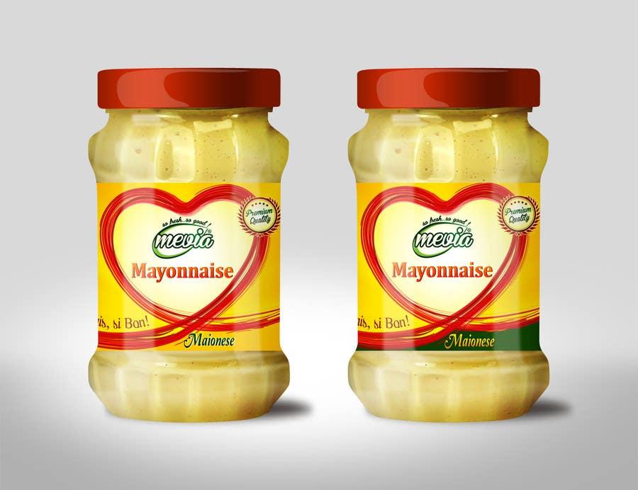 Penyertaan Peraduan #27 untuk Design a label for Mayonnaise in jars