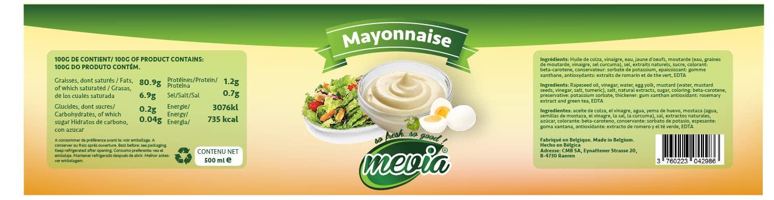 Penyertaan Peraduan #18 untuk Design a label for Mayonnaise in jars