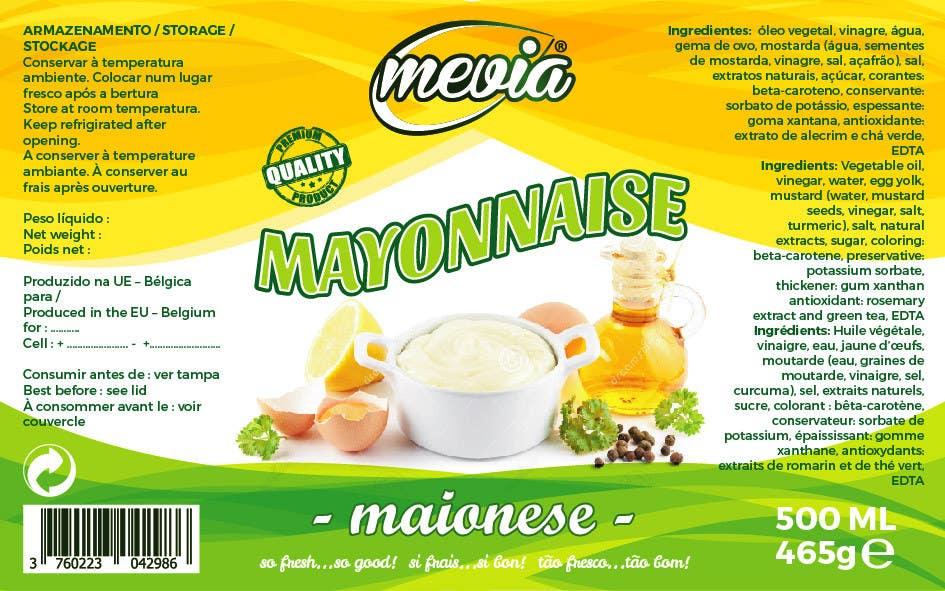 Penyertaan Peraduan #33 untuk Design a label for Mayonnaise in jars