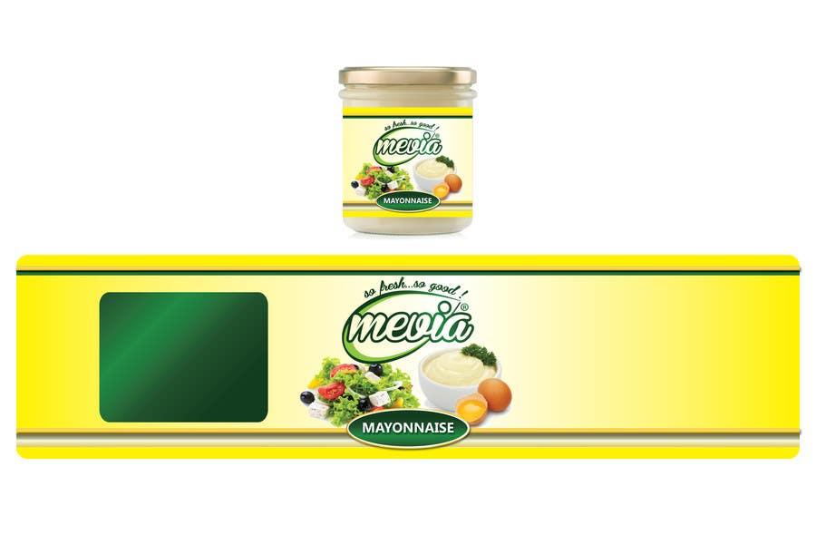 Penyertaan Peraduan #7 untuk Design a label for Mayonnaise in jars