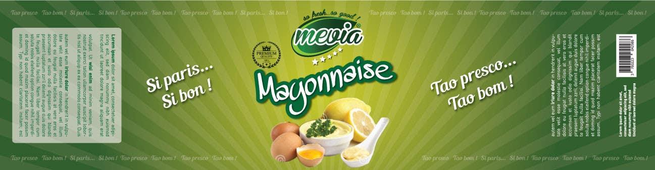 Penyertaan Peraduan #26 untuk Design a label for Mayonnaise in jars
