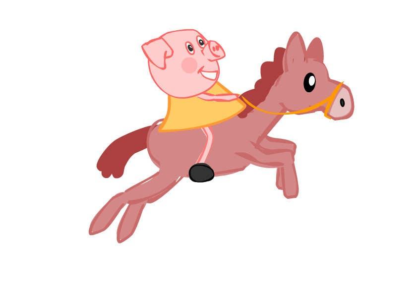 Penyertaan Peraduan #5 untuk I want a cartoon similar to Peppa Pig(not the same, i dont want to infringe copyright) on a Hourse