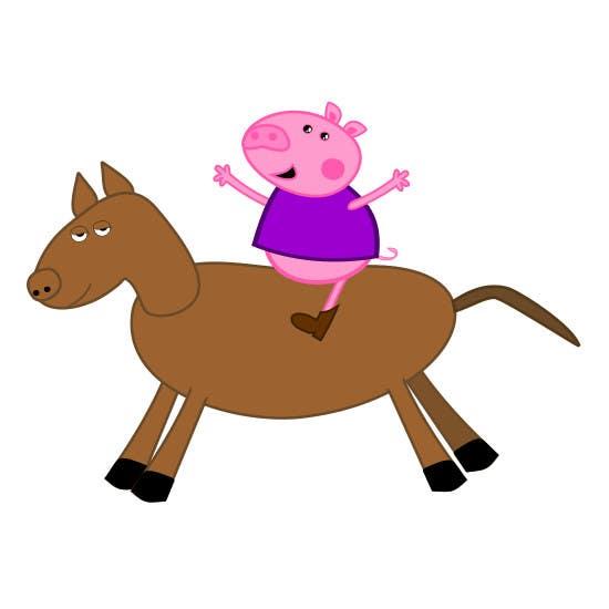Penyertaan Peraduan #13 untuk I want a cartoon similar to Peppa Pig(not the same, i dont want to infringe copyright) on a Hourse