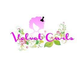 desislavsl tarafından Velvet Curls logo için no 14