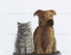 #5 untuk Cat and Dog Cartoon oleh ninoblackwhite