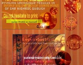 #1 para Design a Banner for Selling oil paintings and Posters por kristenhminor