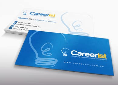 #39 untuk Design some Business Cards for Carrerist oleh LeeniDesigns