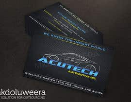 Nro 22 kilpailuun Design some Business Cards for acutech automotive inc using existing logo käyttäjältä mkdoluweera