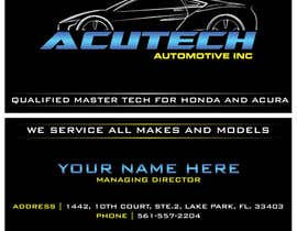 Nro 31 kilpailuun Design some Business Cards for acutech automotive inc using existing logo käyttäjältä mkdoluweera