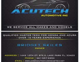 Nro 45 kilpailuun Design some Business Cards for acutech automotive inc using existing logo käyttäjältä mkdoluweera